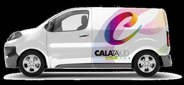 Rotulación vehículo Calatayud Estudi Gràfic